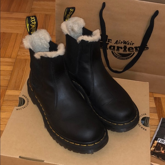 buy undefeated x look out for Dr. Martens Leonore Sherpa Chelsea Boots
